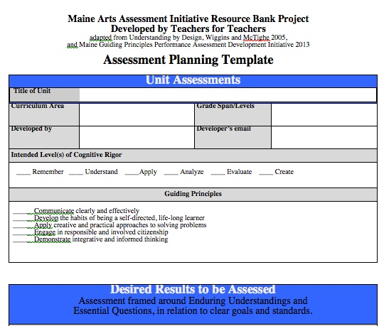 Templates - Maine Arts Ed Resources